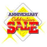 Jahrestags-Verkaufs-Kopftext Stockfotos