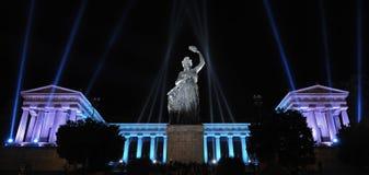 Jahrestagsblitz in dem Bayern in München Lizenzfreies Stockbild