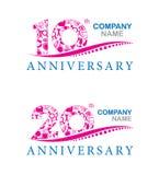 10. Jahrestagsdesign Stockfotografie