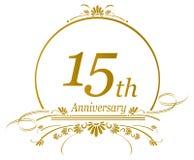 15. Jahrestagsdesign Stockfotografie