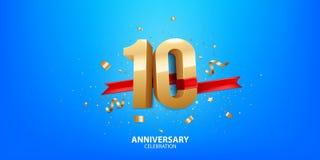 10. Jahrestagsfeier lizenzfreies stockbild