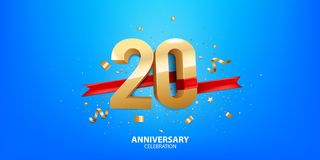 20. Jahrestagsfeier lizenzfreie stockfotografie