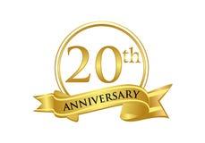 20. Jahrestagsfeier-Logovektor lizenzfreie abbildung