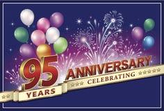 Jahrestagskarte 95 Jahre Lizenzfreie Stockfotos