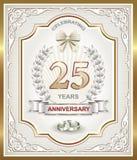 Jahrestagskarte 25 Jahre stock abbildung