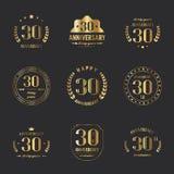 30. Jahrestagslogosammlung Stockfotografie
