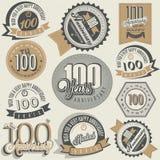 Jahrestagssammlung der Weinleseart hundert Lizenzfreie Stockfotografie