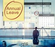 Jahresurlaub-Zeitplan, der plant, Listen-Konzept zu tun Lizenzfreies Stockfoto