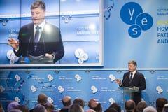 12. Jahresversammlung europäischer Strategie Jaltas (JA) Stockbild