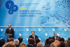 12. Jahresversammlung europäischer Strategie Jaltas (JA) Stockfotos