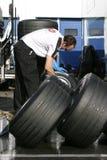 Jahreszeit 2005, waschende Reifen der Formel 1 Lizenzfreie Stockfotografie