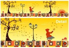 Jahreszeit-Ansammlung: Herbst vektor abbildung
