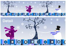Jahreszeit-Ansammlung: Winter lizenzfreie abbildung