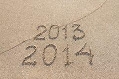 Jahreszeit des neuen Jahres 2014 ist kommendes Konzept Stockfoto