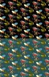 Jahreszeit-Mustersatz Bullfinchs nahtloser Auch im corel abgehobenen Betrag Autu Lizenzfreies Stockfoto