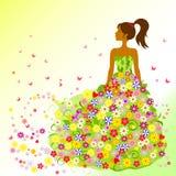 Jahreszeit ` s Mädchen - Sommerillustration Stock Abbildung