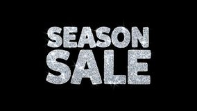 Jahreszeit-Verkaufs-Blinkentext-Wunsch-Partikel-Grüße, Einladung, Feier-Hintergrund stock video