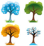 Jahreszeitbäume Stockfotos