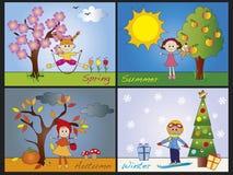 Jahreszeiten vektor abbildung