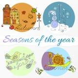 Jahreszeiten des Jahres Stockfotografie