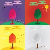 Jahreszeiten des Jahres Lizenzfreie Stockbilder