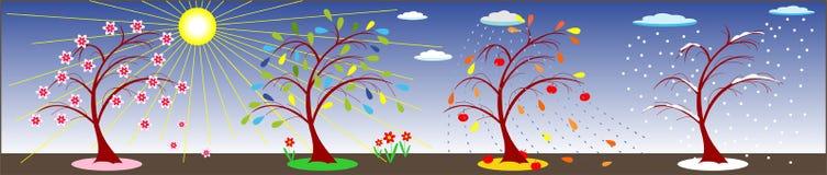 Jahreszeiten des Jahres Stock Abbildung