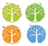 Jahreszeiten - die Bäume lizenzfreie abbildung