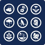 Jahreszeiten: Frühlingsikonen (stellen Sie 3, Teil 2) ein Stockbilder