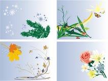 Jahreszeiten. Ikonen Stockfotos