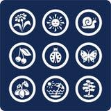 Jahreszeiten: Sommerikonen (stellen Sie 4, Teil 2) ein Stockfotografie