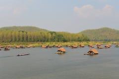 Jahreszeithausboot Lizenzfreie Stockfotografie