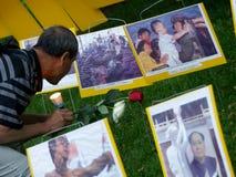 24. Jahrgedenkenzeremonie des Tiananmen-Platz-Massakers Stockbilder
