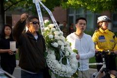 24. Jahrgedenkenzeremonie des Tiananmen-Platz-Massakers Lizenzfreies Stockbild