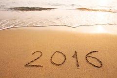 Jahrhintergrund 2016 Lizenzfreie Stockbilder
