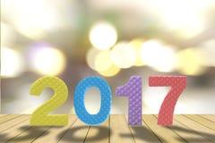Jahrhintergrund mit 2017 Nachrichten Stockbild