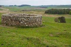 19. Jahrhundert gut bei Housesteads Roman Fort Lizenzfreies Stockfoto