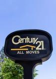 Jahrhundert 21 Real Estate unterzeichnen und Logo Stockfotografie