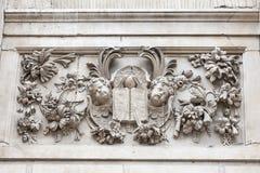 18. Jahrhundert St. Paul Cathedral, Entlastung auf Fassade, London, Vereinigtes Königreich Stockbild