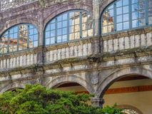 Jahrhunderte alte Wände - Santiago de Compostela lizenzfreies stockfoto