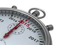 Jahrkalender auf Stoppuhr Lizenzfreies Stockfoto