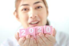 Jahrkonzept 2020 stockfoto