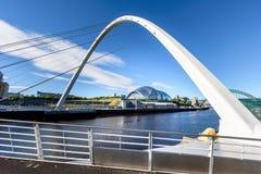 Jahrtausend-Brücke der Sage Newcastle Großbritannien Lizenzfreies Stockfoto