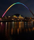 Jahrtausend-Brücke Newcastle nach Tyne Großbritannien Stockbild
