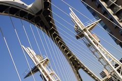 Jahrtausend-Brücke Salford Quay stockfotos