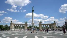 Jahrtausend-Denkmal in Budapest stock video footage