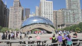 Jahrtausend-Park in Chicago stock footage