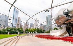 Jahrtausend-Park Pritzker Pavilionin bei Chicago im Stadtzentrum gelegen Lizenzfreie Stockfotografie