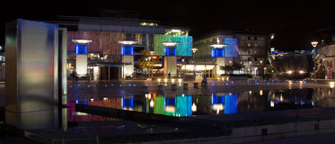 Jahrtausend-Quadrat in Bristol nachts Lizenzfreie Stockbilder