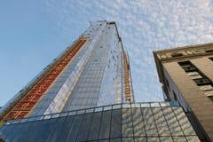 Jahrtausend-Turm von Boston im Bau (Boston, Massachusetts, USA/am 31. Oktober 2015) Lizenzfreie Stockfotografie