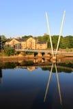 Jahrtausendbrücke über Fluss Lune, Lancaster Stockbild